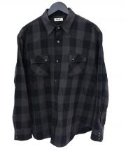 RHC Ron Herman(ロンハーマン)の古着「チェックシャツ」|グレー×ブラック