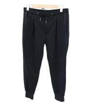 Paul Smith(ポールスミス)の古着「POLYESTER COTTON TRACK PANTS」|ブラック