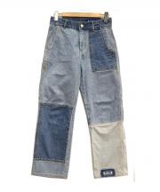 ADERERROR(アーダーエラー)の古着「リメイクデニムパンツ」|インディゴ