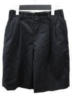 BLACK COMME des GARCONS(ブラックコムデギャルソン)の古着「2タックショートパンツ」|ブラック