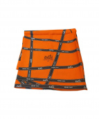 HERMES(エルメス)の古着「ボルデュックリボンシルクスカーフ」|オレンジ