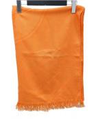 HERMES(エルメス)の古着「カシミヤシルク ショール」|オレンジ