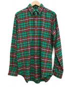 POLO RALPH LAUREN(ポロ・ラルフローレン)の古着「チェックシャツ」|グリーン