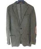 eleventy(イレブンティ)の古着「エルボーパッチコットンリネンテーラードジャケット」