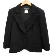 CHANEL(シャネル)の古着「ツイードショートジャケット」|ブラック