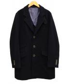 THE SUIT COMPANY(ザスーツカンパニ)の古着「ダブルフェースチェスターコート」|ネイビー