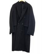 Essay(エッセイ)の古着「Peaked lapel chester coat」|ブラック