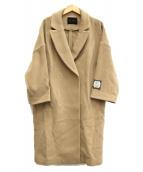 URBAN RESEARCH(アーバンリサーチ)の古着「ラムズウールダブルモッサーコクーンコート」|ベージュ