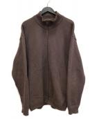 crepuscule(クレプスキュール)の古着「Moss Stitch Zip Cardigan」|ブラウン