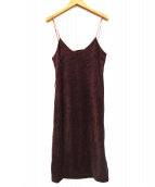 YOUNG&OLSEN(ヤングアンドオルセン)の古着「VELOUR DRESS」|パープル