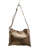 IL BISONTE(イルビゾンテ)の古着「レザーロゴエンボスショルダーバッグ」