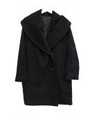 ANAYI(アナイ)の古着「アンゴラ混ショールカラーコート」 ブラック