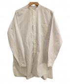 COMOLI(コモリ)の古着「バンドカラーシャツ」 ホワイト