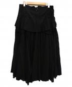 Y's Red Label(ワイズレッドレーベル)の古着「別布切替ロングスカート」|ブラック