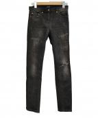 BALMAIN(バルマン)の古着「スキニーデニムパンツ」|ブラック