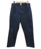 KATO(カトー)の古着「チンチバックウール混パンツ」|ネイビー