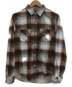 R.H VINTAGE(ロンハーマンヴィンテージ)の古着「チェックネルシャツ」|ブラウン