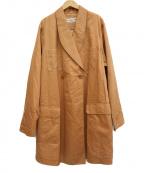 Christian Dior Sports(クリスチャン ディ オール スポーツ)の古着「オーバーシルエットコート」|オレンジ