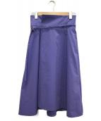 Jewel Changes(ジュエルチェンジズ)の古着「ベルト付スカート」|ラベンダー