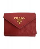 PRADA(プラダ)の古着「3つ折り財布」|ピンク