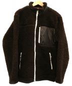DESCENTE(デサント)の古着「ボアフリースジャケット」 ブラウン