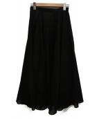 UNITED ARROWS(ユナイテッドアローズ)の古着「シアーフレアスカート」|ブラック