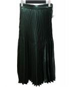 nano・universe(ナノユニバース)の古着「メタリックプリーツスカート」|グリーン