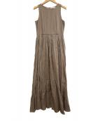 MARIHA(マリハ)の古着「フレアノースリーブワンピース」|ブラウン