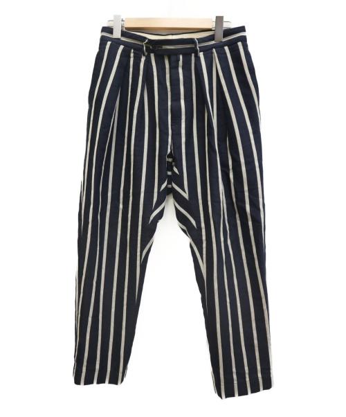 NEAT(ニート)NEAT (ニート) COTTON LINEN STRIPE TAPERD ネイビー サイズ:44 参考価格37.800円+tax 完売品の古着・服飾アイテム