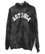 VOTE MAKE NEW CLOTHES(ヴォートメイクニュークローズ)の古着「ASTORIATIE DYE HOODIE」|ブラック