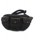TT&CO(ティーティーアンドカンパニー)の古着「3 Pocket Shoulder Bag Diamond 」|ブラック