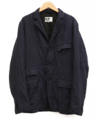 Engineered Garments(エンジニアードガーメンツ)の古着「総柄ベイカージャケット」|ネイビー