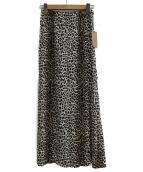 R'IAM-Plage(リアムプラージュ)の古着「ミニレオパードスカート」|ブラウン
