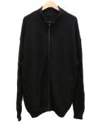 crepscule(クレプスキュール)の古着「Moss Stitch Zip Cardigan」|グレー