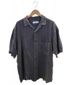 Graphpaper(グラフペーパー)の古着「オープンカラーシャツ」|グレー