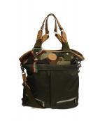Orobianco(オーロビアンコ)の古着「2WAYヘルメットバッグ」|グリーン