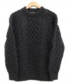 INVERALLAN(インバーアラン)の古着「クルーネックアランニット」|グレー