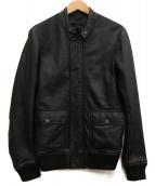 DIESEL BLACK GOLD(ディーゼルブラックゴールド)の古着「シングルライダースジャケット」|ブラック