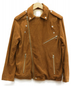 so1:1(ソウワンバイワン)の古着「GOAT SUEDEレザールーズライダース」|ブラウン