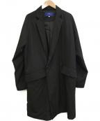 ITEMS URBAN RESEARCH(アイテムズ アーバンリサーチ)の古着「オーバーサイズラップコート」|ブラック