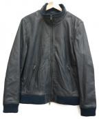liugoo leathers(リューグーレザーズ)の古着「ラムレザージャケット」 グレー