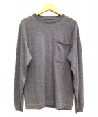 crepuscule(クレプスキュール)の古着「POCKET L/S KNIT」|グレー