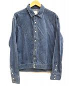 YSTRDYS TMRRW(イエスタディズトゥモロー)の古着「ウエスタンシャツ」|ブルー