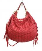 MIUMIU(ミュウミュウ)の古着「2WAY編み込みバッグ」|ピンク
