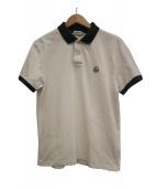MONCLER(モンクレール)の古着「ポロシャツ」|ホワイト×ネイビー