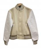 GB SPORT(ゴールデンベアスポーツ)の古着「スタジアムジャケット」|ホワイト×アイボリー