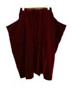 COMME des GARCONS COMME des GARCONS(コムデギャルソン コムデギャルソン)の古着「ベロアデザインスカート」|ボルドー