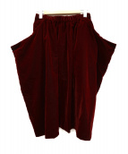 COMME des GARCONS COMME des GARCONS(コムデギャルソンコムデギャルソン)の古着「ベロアデザインスカート」|ボルドー