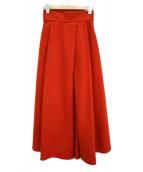 ELIN(エリン)の古着「メルトンフレアウールスカート」|レッド