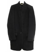 STELLA McCARTNEY(ステラマッカートニー)の古着「ナイロン混ウールチェスターコート」|ネイビー